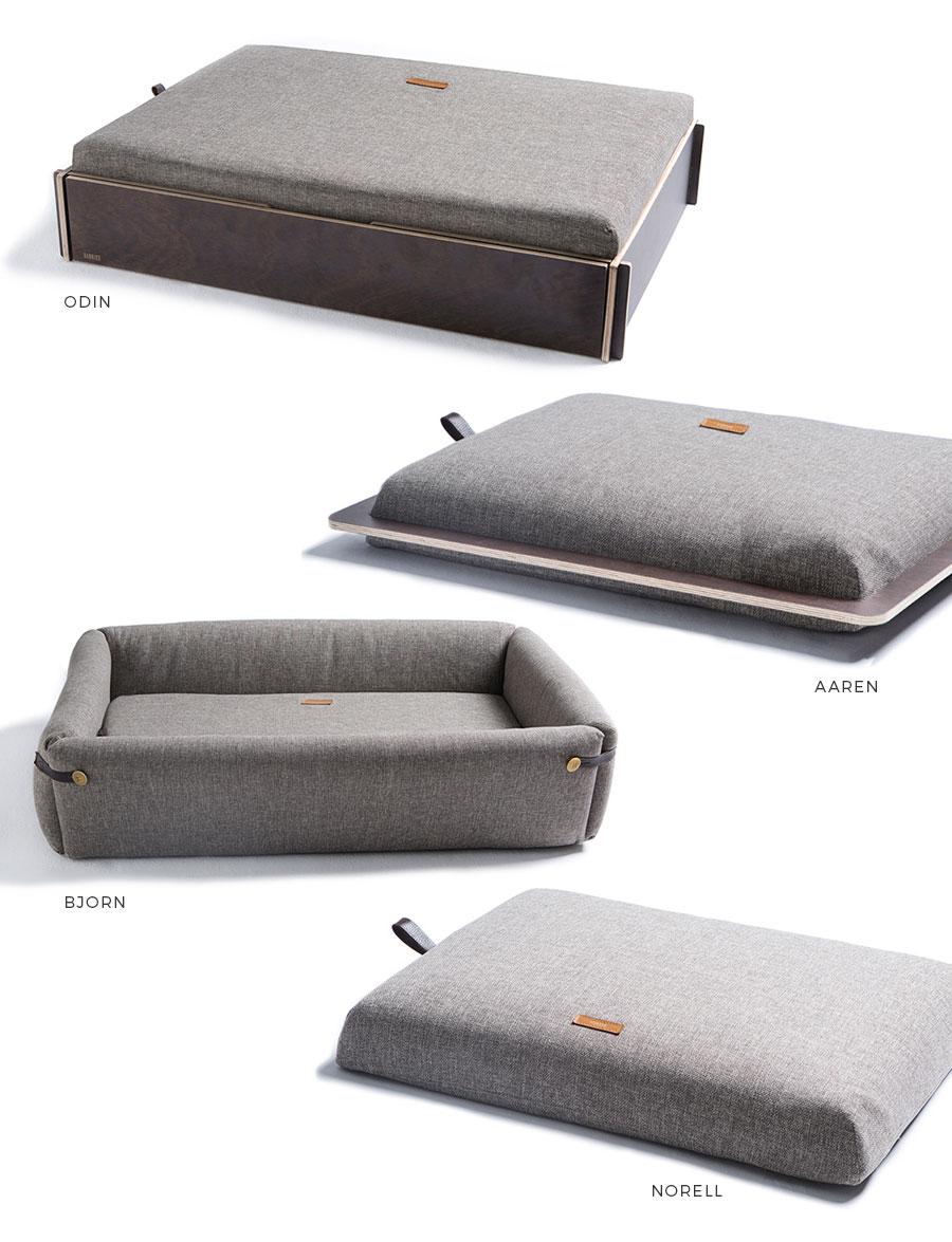 Modelos de camas HANNIKO: Odin, Aaren, Bjorn y Norell
