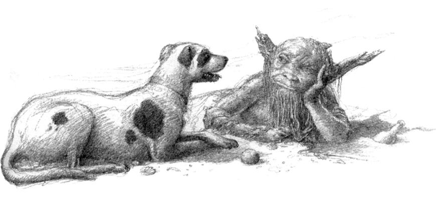 Rover, el perro de Roverandom, un cuento de Tolkien.
